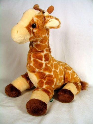 Luvable Friends Printed Fleece Blanket Birds Giraffes For Sam