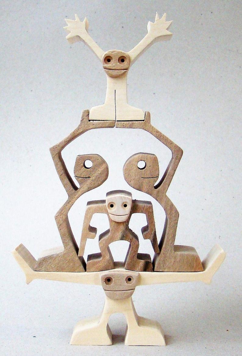 Pyramid; wood carving