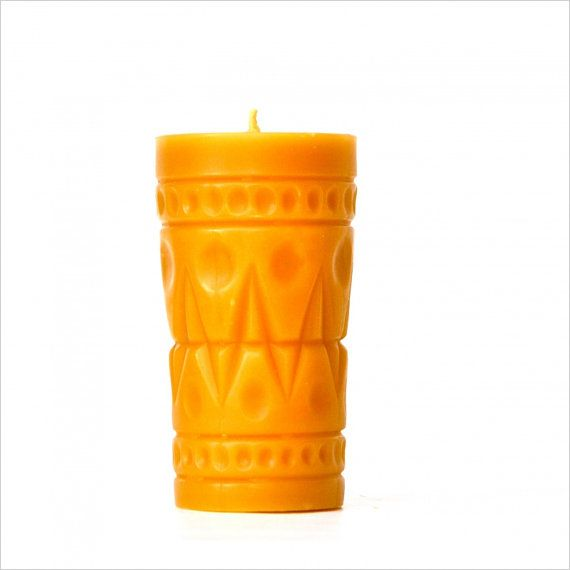 Large Beeswax Pillar Candle Tiki Pillar by freshpastrystand, $32.00