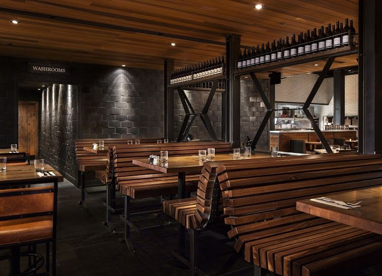 Earls Shepard Flats Calgary Bench Seating Restaurant Design