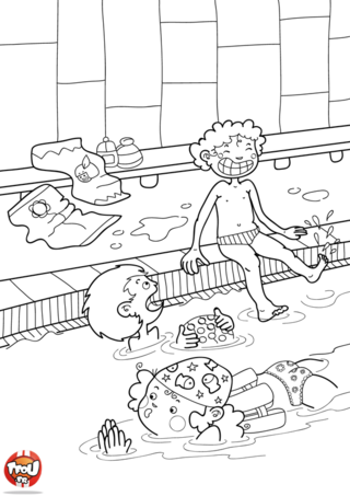 Piscine on pinterest sports php and html - Coloriage tfou ...