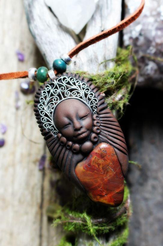 Handcrafted Jasper healing necklace
