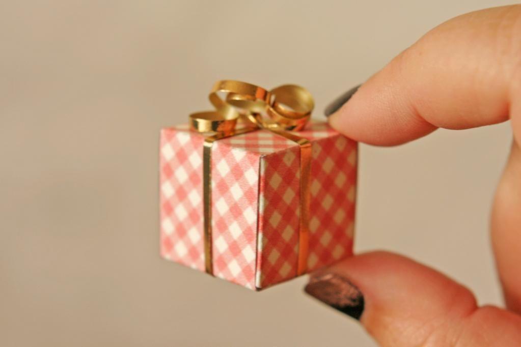 Tiny Christmas Birthday Gift Boxes