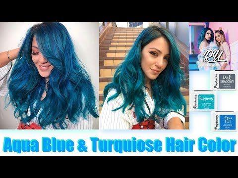 a80587d85cd Aqua Blue   Turquoise Hair Color - YouTube