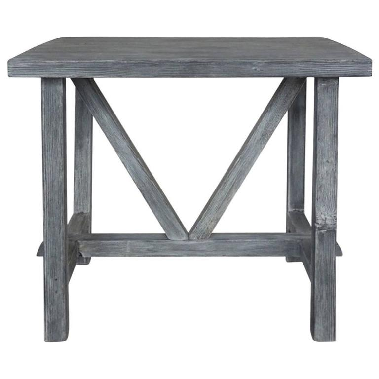 Dos Gallos Reclaimed Wood Side Table