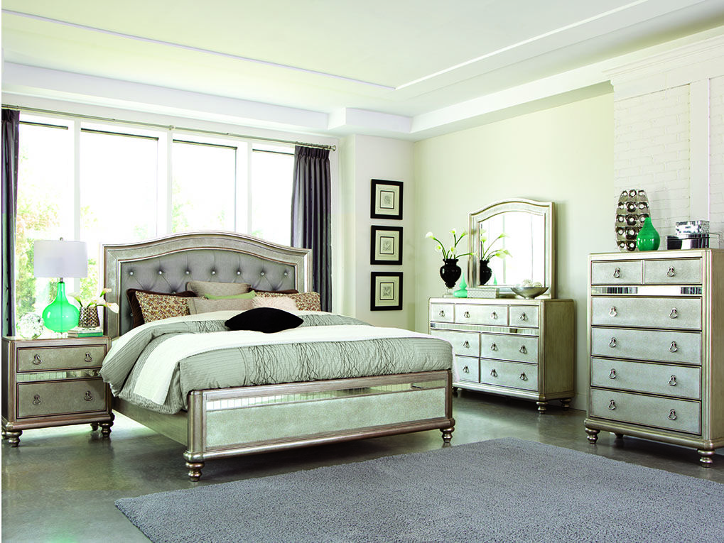 Lavish Design Crafted With A Sleek Tall Headboard And Padded With
