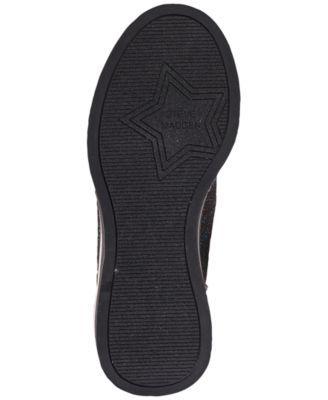 562e8d572c8 Steve Madden Little Girls  JDusky Sock Wedge Platform Casual Sneakers from  Finish Line - Black