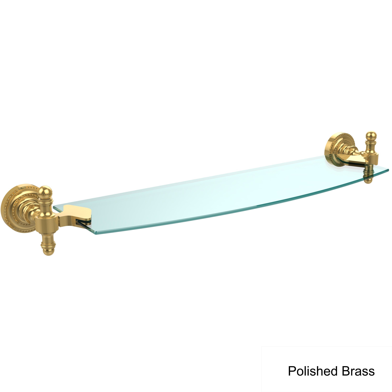 Allied Brass Retro Dot 18-inch Glass Shelf (Antique Copper), Clear ...
