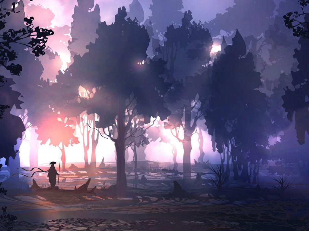 Desktop Wallpaper Fantasy Dark Outdoor Forest Artwork Hd