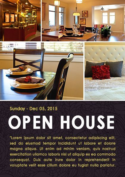 Real Estate Open House Flyer Template  Open House Flyer Ideas