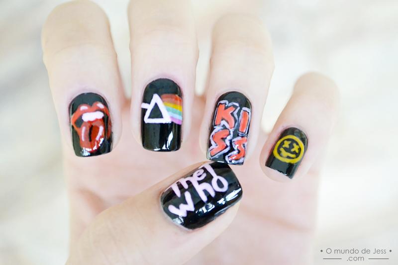 Rock n\' Roll Nails! #nailart www.omundodejess.com | B E A U T Y ...