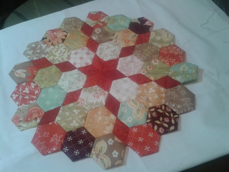 Hexagon and star shape quilt patchwork pinterest n hen patchwork ideen und papier - Patchwork ideen ...
