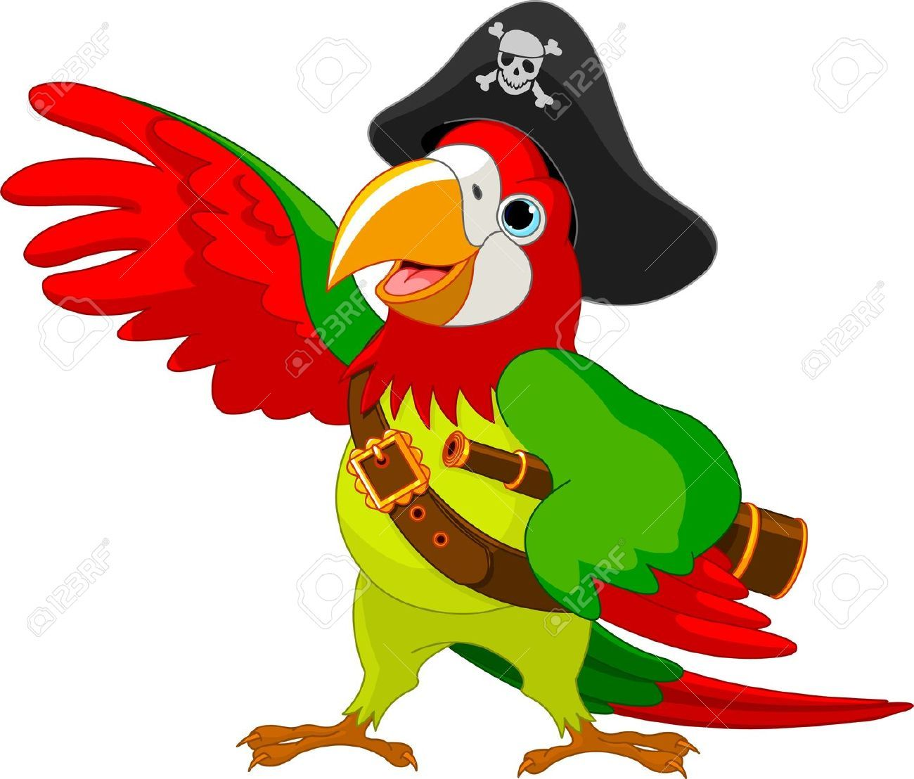 Perroquet pirate dessin recherche google spectacle - Perroquet dessin ...