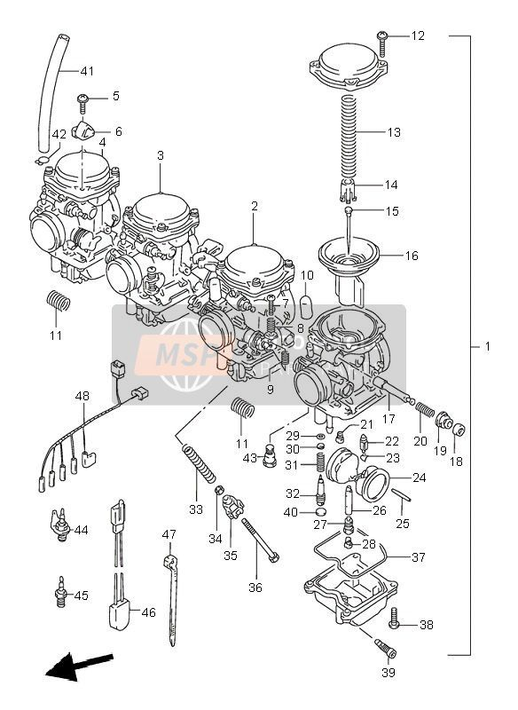 carburetor for 1997 suzuki gsf600n bandit