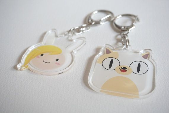 Adventure Time Fionna & Cake the cat by ArtasIllustration on Etsy