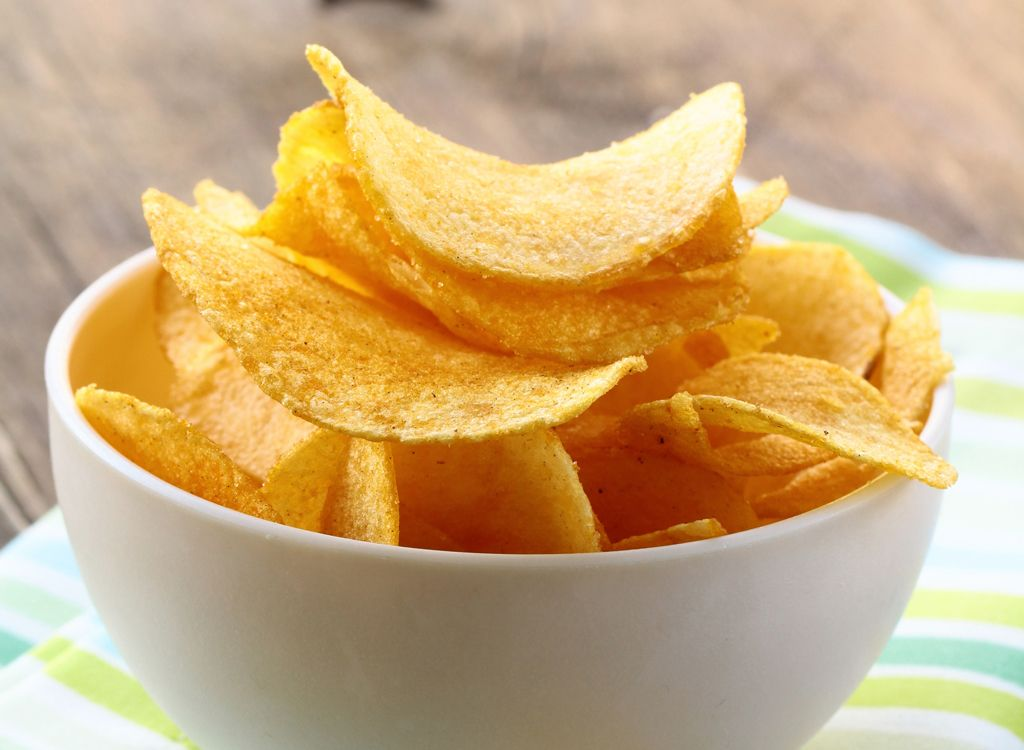 Easy Homemade Potato Chips Recipe Eat This Not That Recipe Potato Chip Recipes Chips Recipe Potato Chips