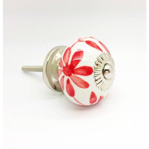 G Decor Flower Round Ceramic Cupboard Kitchen Door Knob 21 RON
