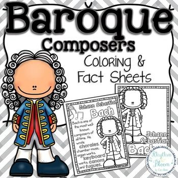 Baroque Composers Coloring And Fact Sheets Baroque Composers