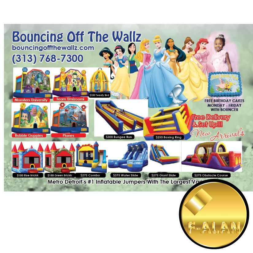 Bounce House Flyer Past Cards/Graphics/Advertisements Things