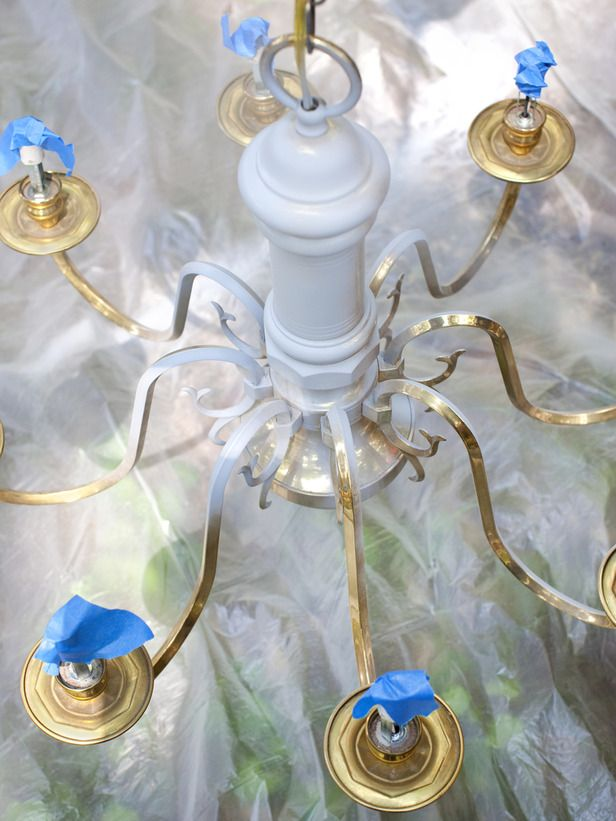 How to modernize a traditional brass chandelier brass chandelier how to modernize a traditional brass chandelier with a few simple steps take an old aloadofball Image collections