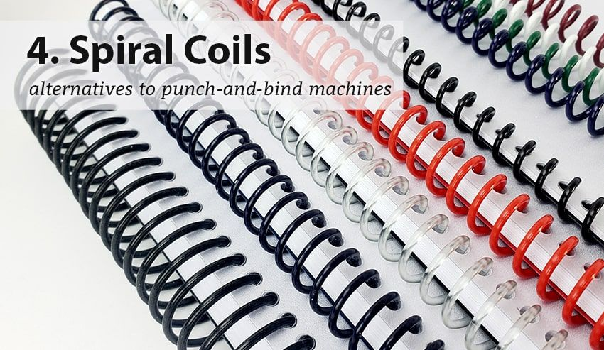 Resource Center 4 Alternatives To Punch And Bind Machines Rings Posts Notepads Coils Coil Binding Book Binding Machine Binding Machines