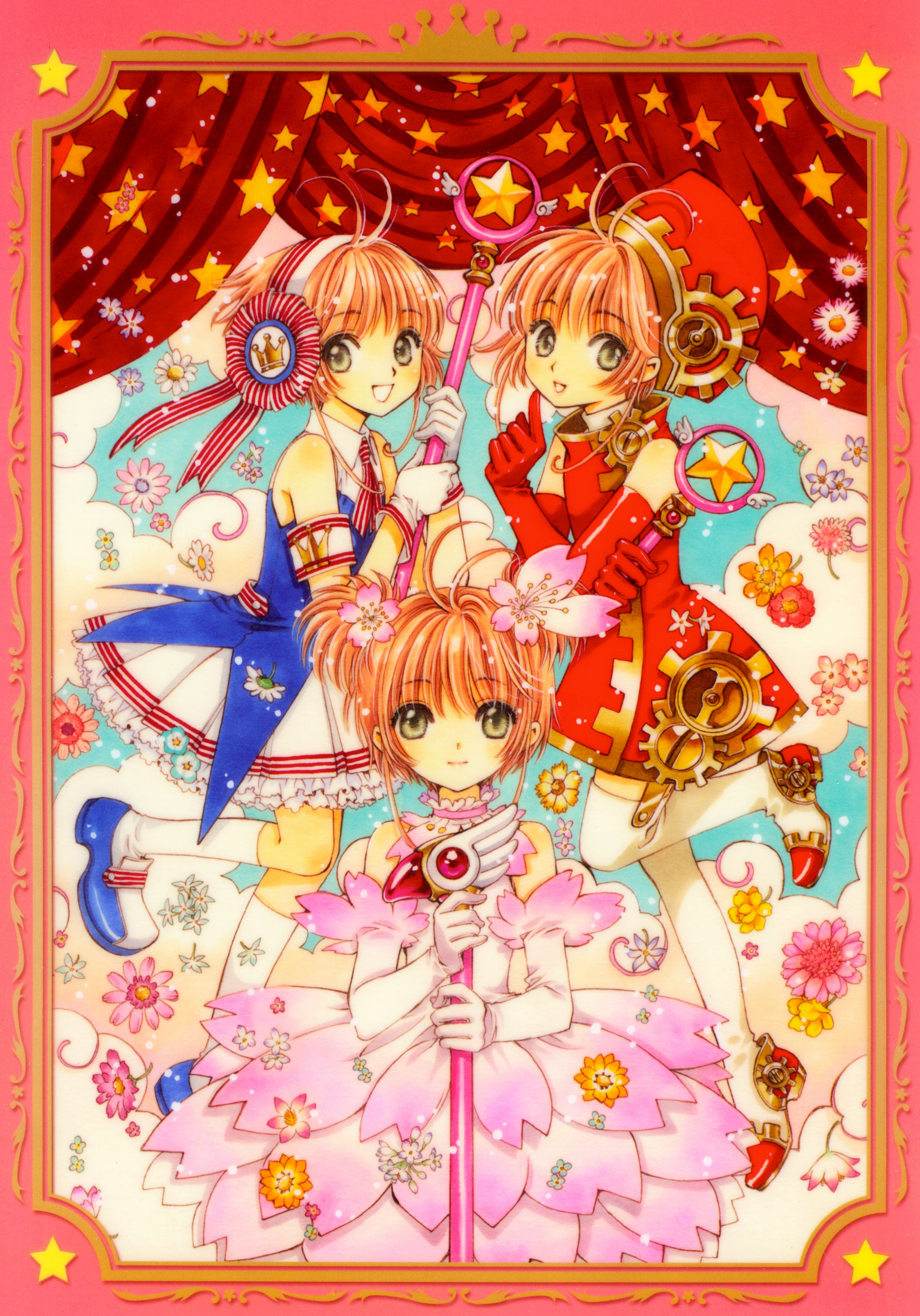 s Clamp Cardcaptor Sakura Kinomoto Sakura Scan Official Art Mobile Wallpaper