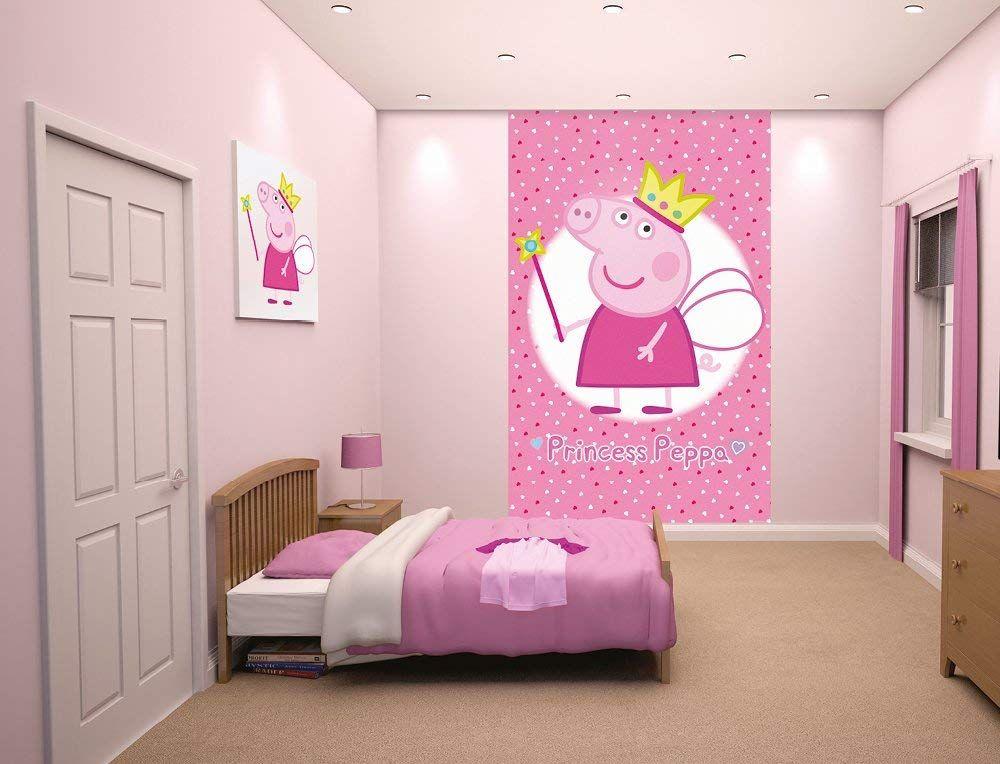 Walltastic 8 x 5 ft Princess Peppa Pig Poster Mural, Multi ...