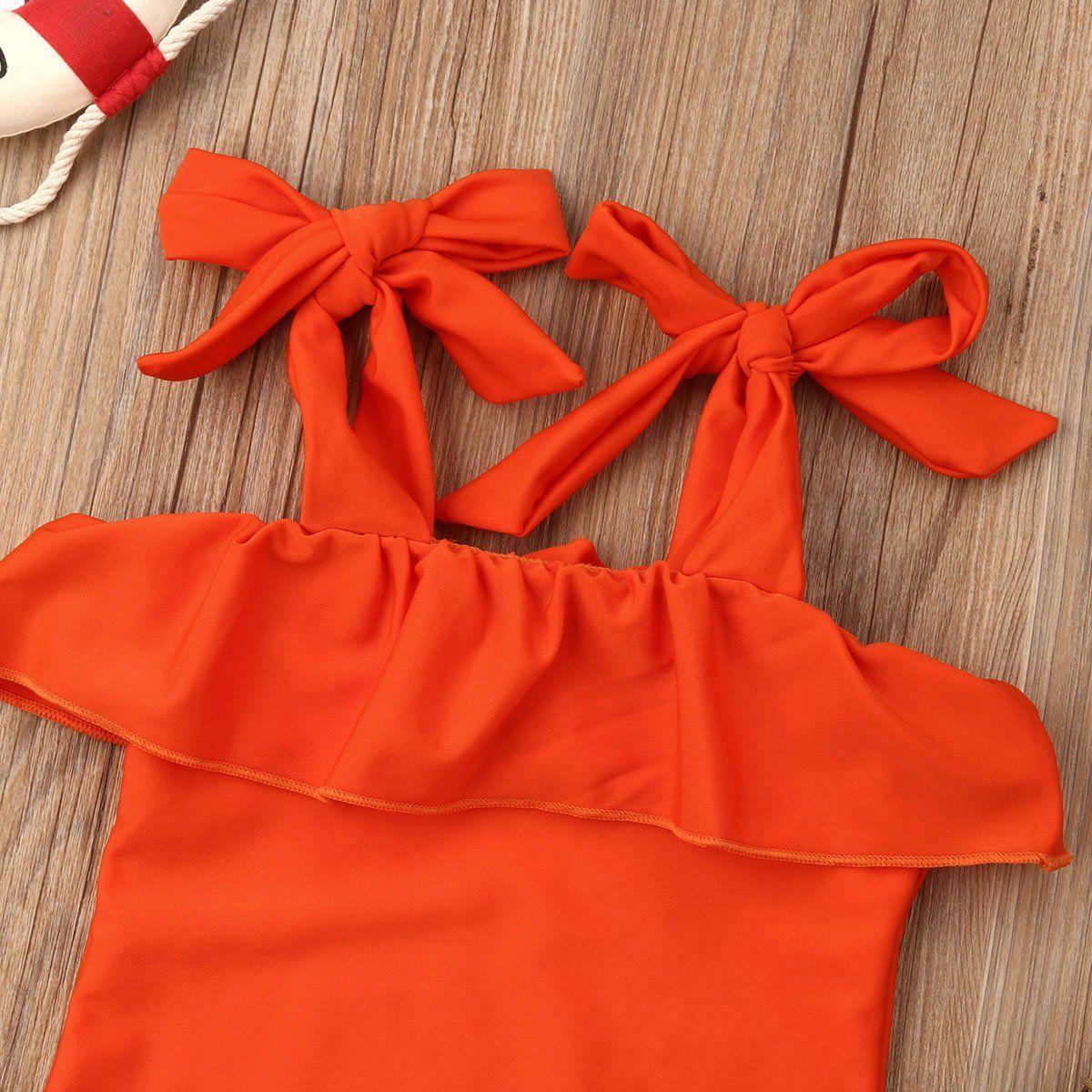 6e7efcf4520 2019 New Baby Kid Girls Swimwear Summer Ruffles One Piece Bikini Swimsuit  Beach Bathing Suit Baby Girl Clothes 0-5T