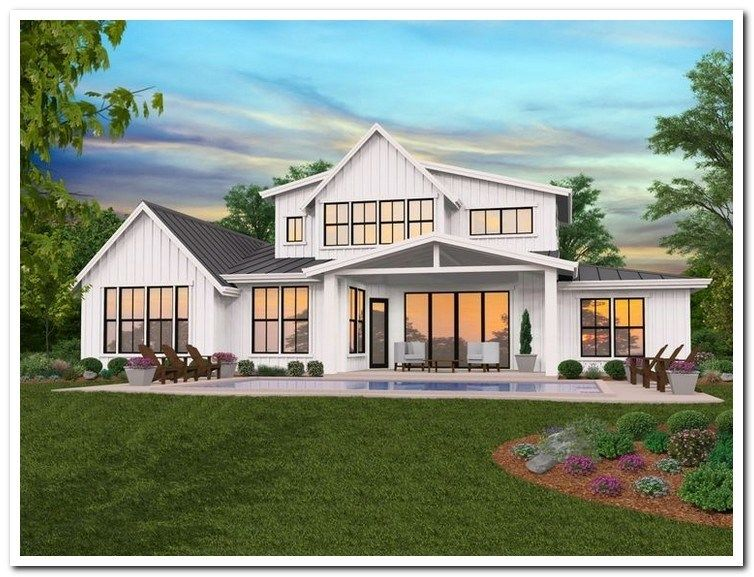 39 Most Popular Dream House Exterior Design Ideas 10 Modern Farmhouse Plans Modern Farmhouse Floorplan Modern Farmhouse Floors
