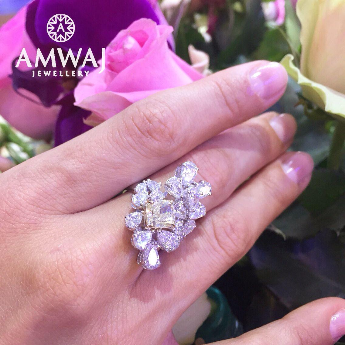 Amwaj Jewellery | Diamonds | Pinterest | Ring, Diamond and Jewel