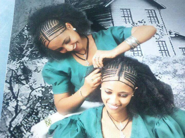 Ethiopian hairstyle #hairstyles #beautiful - Traditional Ethiopian Hair Style (Amhara Only?) Naturally Black