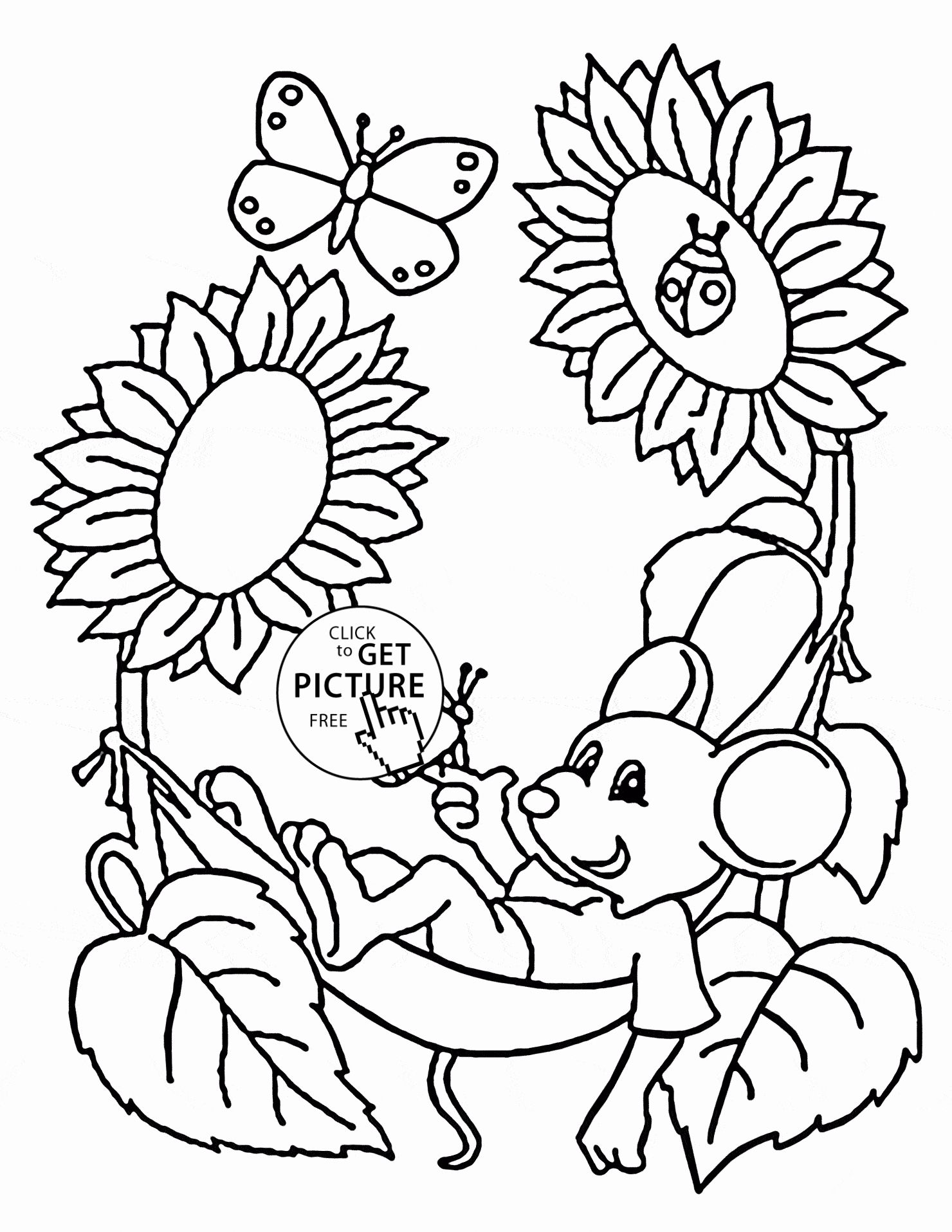 Summer Coloring Pages for Preschool New Cute Mouse and