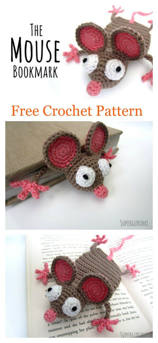 Amigurumi Mouse Bookmark Free Crochet Pattern | Crochet | Pinterest ...