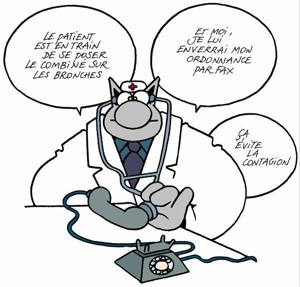 Philippe Geluck. #Telemedicine. | Le chat geluck, Paroles ...