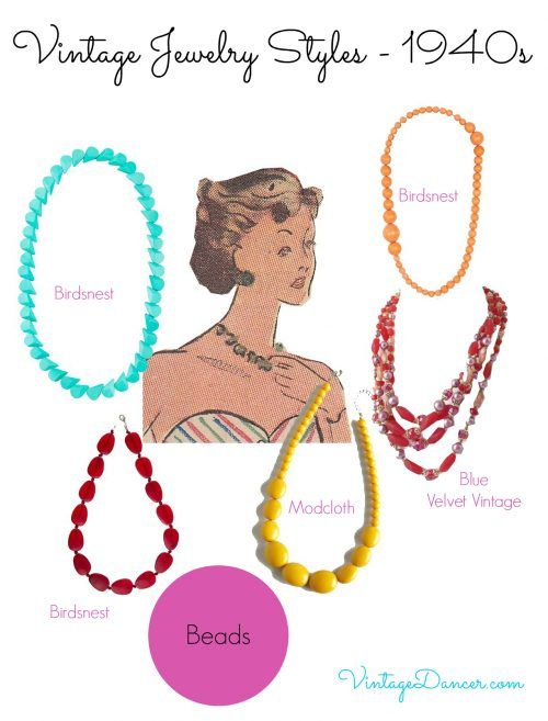 1940s Jewelry Styles And History 1940s Jewelry Fashion Jewelry Jewelry Style Guide