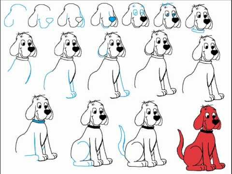 How To Draw Clifford The Big Red Dog Step By Step Drawing Tutorial