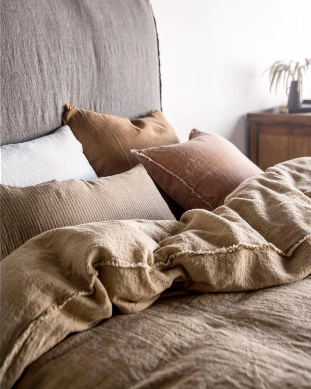 Rise And Shine With Our Pure Linen Bedding Collection Our Entire Linen Range Is Grown Spun Woven And Sewn Only Pure Linen Bedding Linen Bedding Linen Sheets