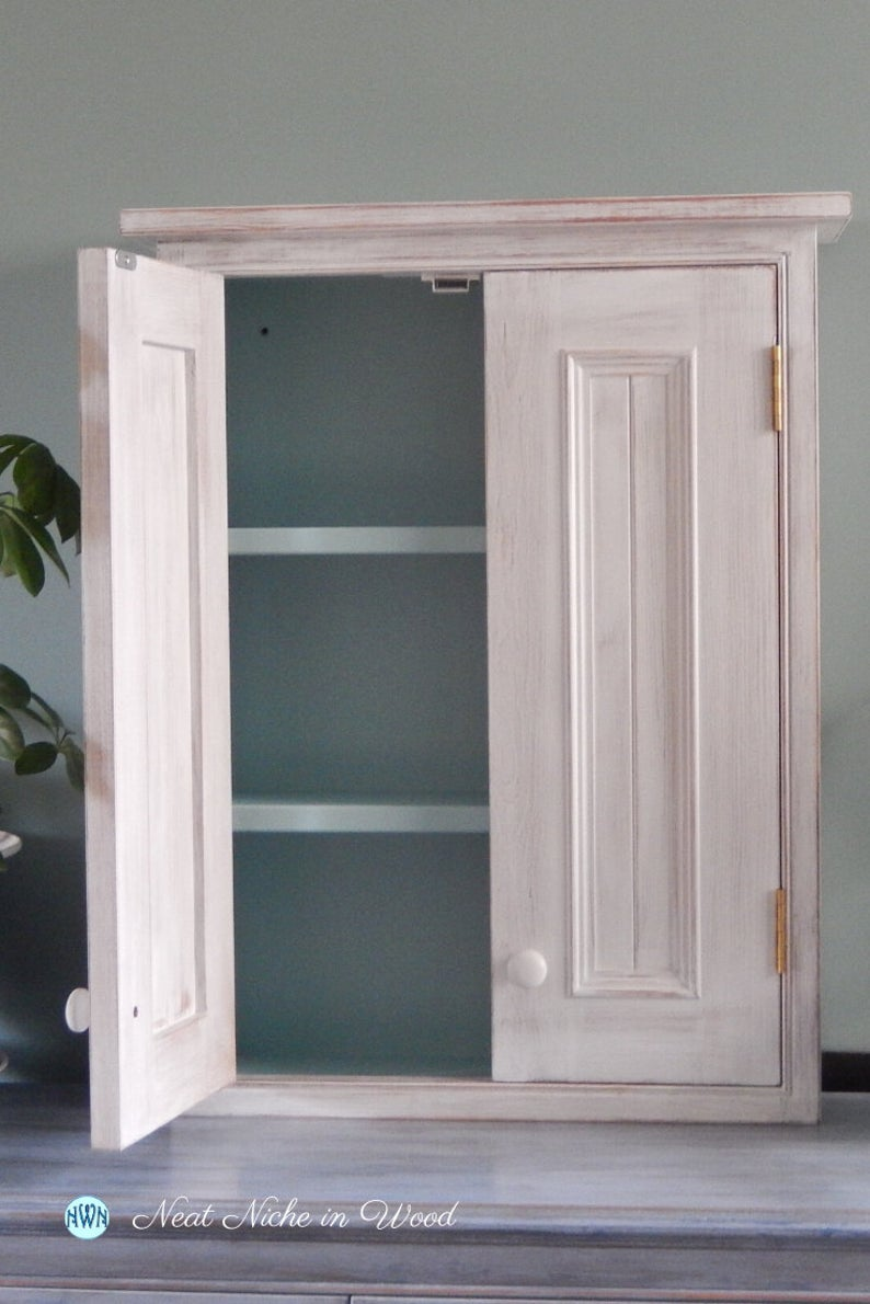 Shabby Chic Bathroom Cabinet White Painted Wall Cabinet Etsy White Bathroom Cabinets Shabby Chic Bathroom Chic Bathrooms [ 1190 x 794 Pixel ]