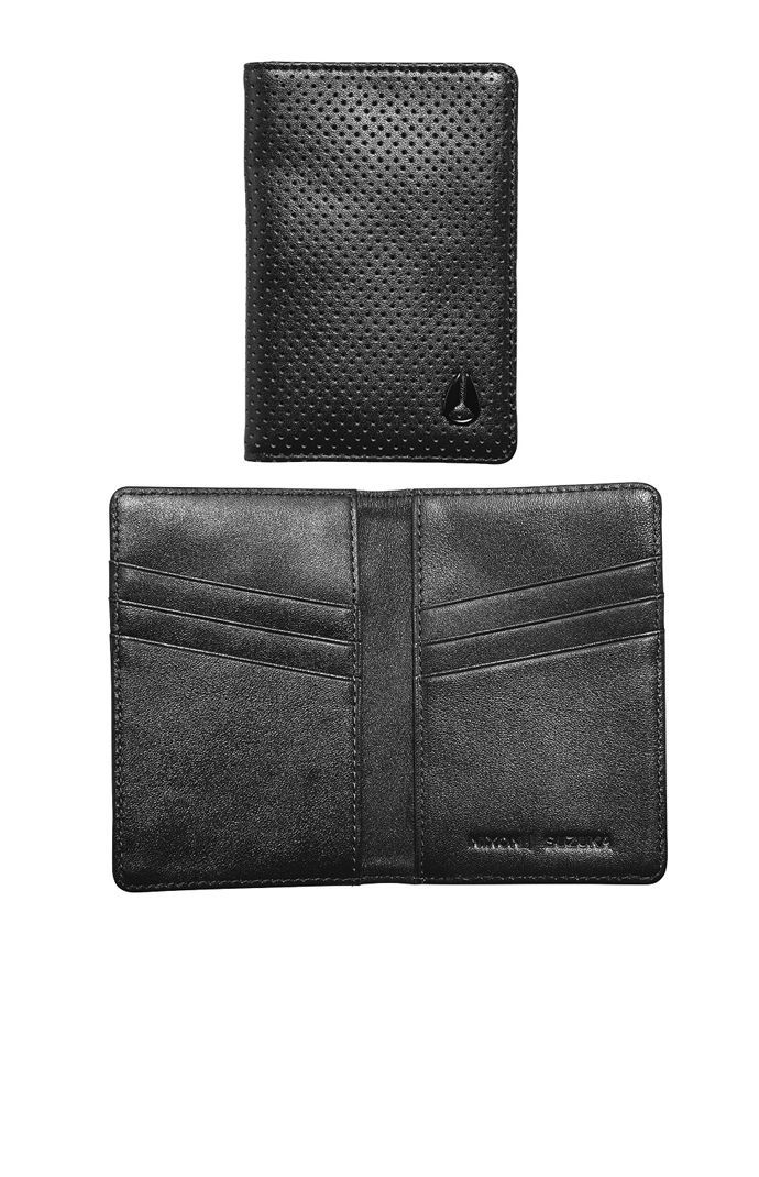 Nixon constructs a geniue leather men s card wallet found at PacSun The Suzuka Card Wallet