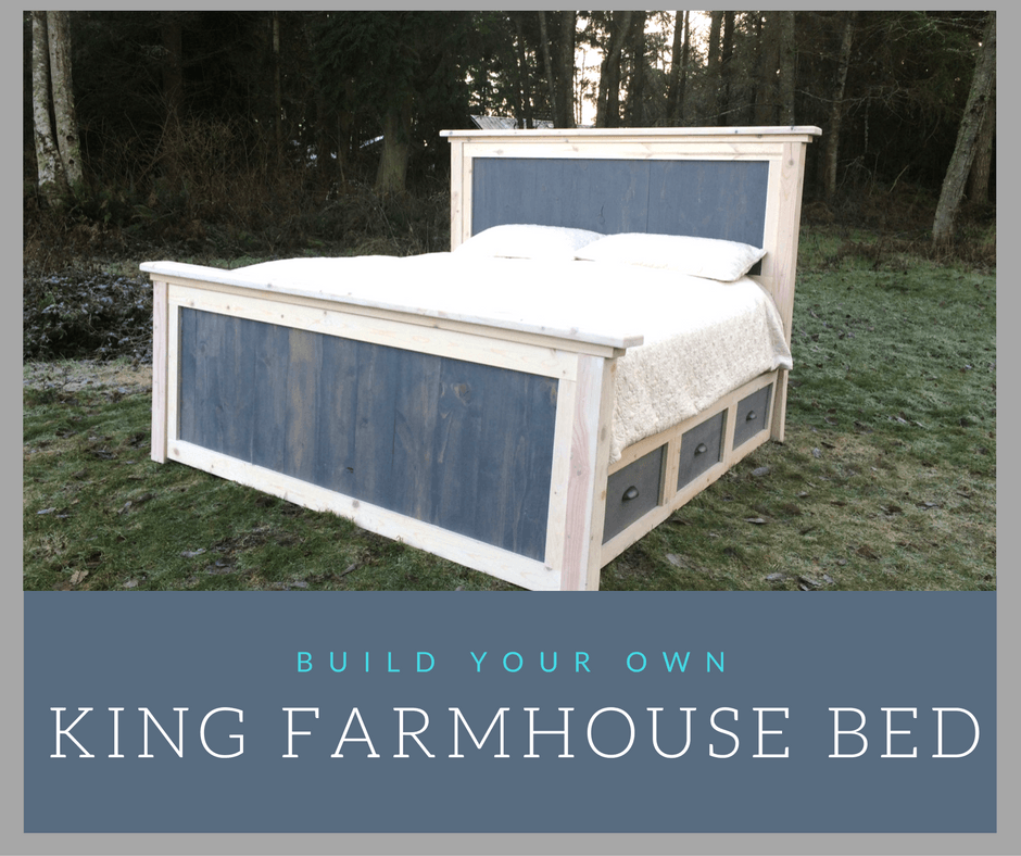 DIY King Farmhouse Bed Plans King farmhouse bed, Bed