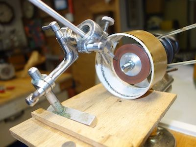 Sharpening Jig With Scotch Shield Diamond Grinding Wheel