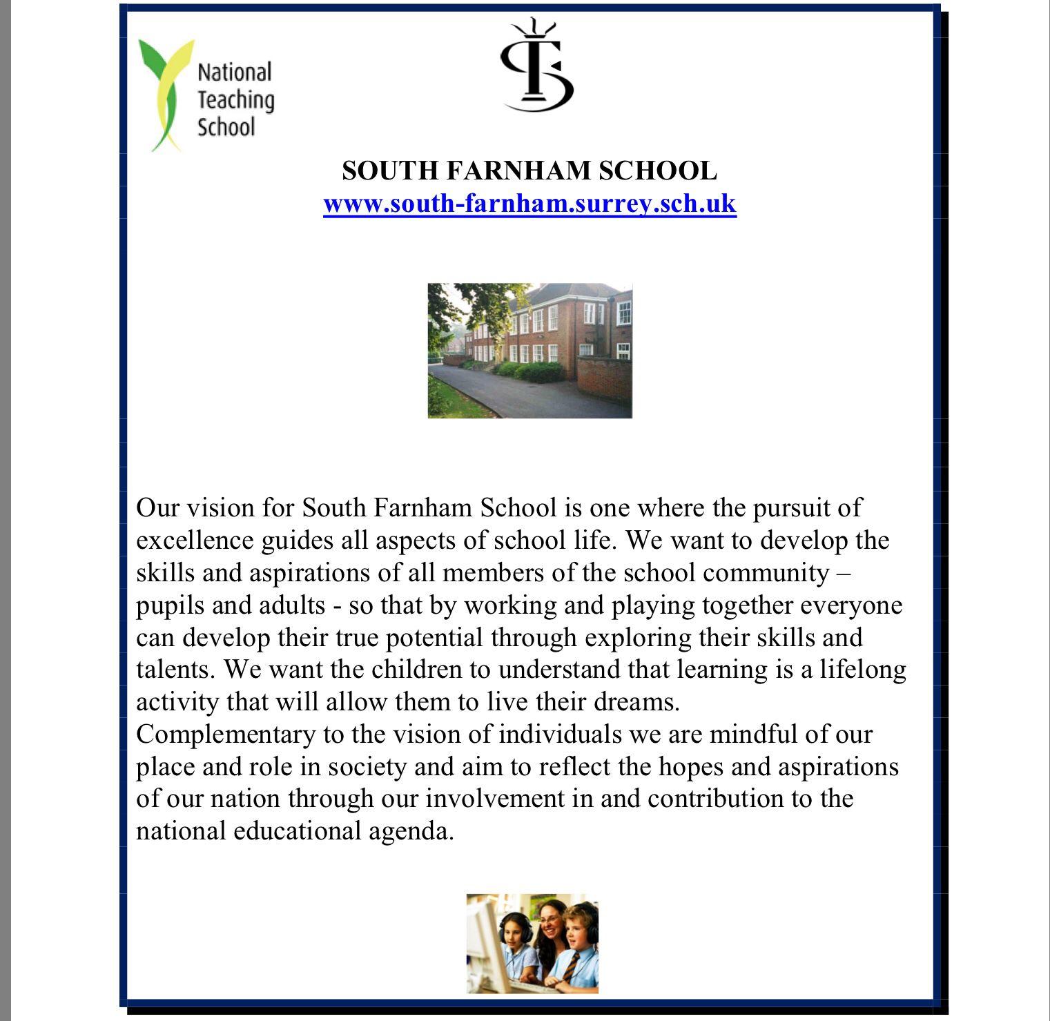 School vision example.