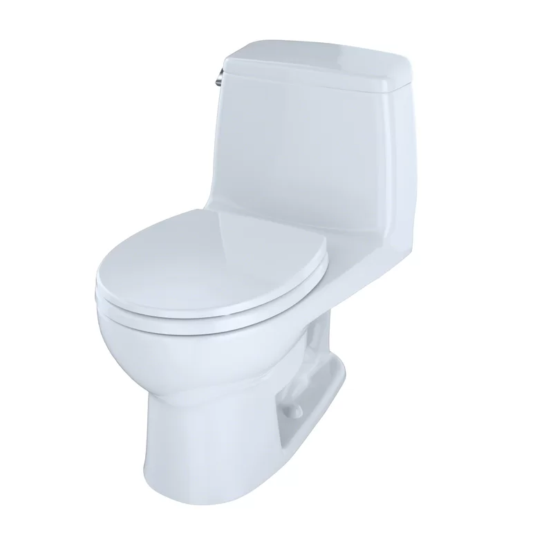 Ultramax Eco 1 28 Gpf Round One Piece Toilet Seat Included One Piece Toilets Toilet Seat Toilet