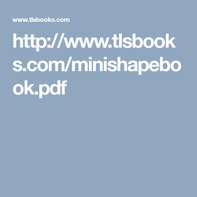 Http Www Tlsbooks Com Minishapebook Pdf Math Geometry Math Geometry