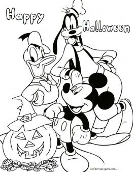 Printable Mickey Mouse Clubhouse Halloween Coloring Pages