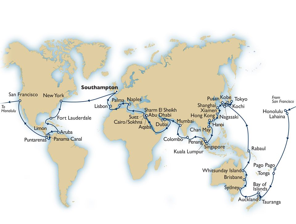 Queen elizabeth 2014 world cruise map cunard places ive been and queen elizabeth 2014 world cruise map cunard gumiabroncs Image collections
