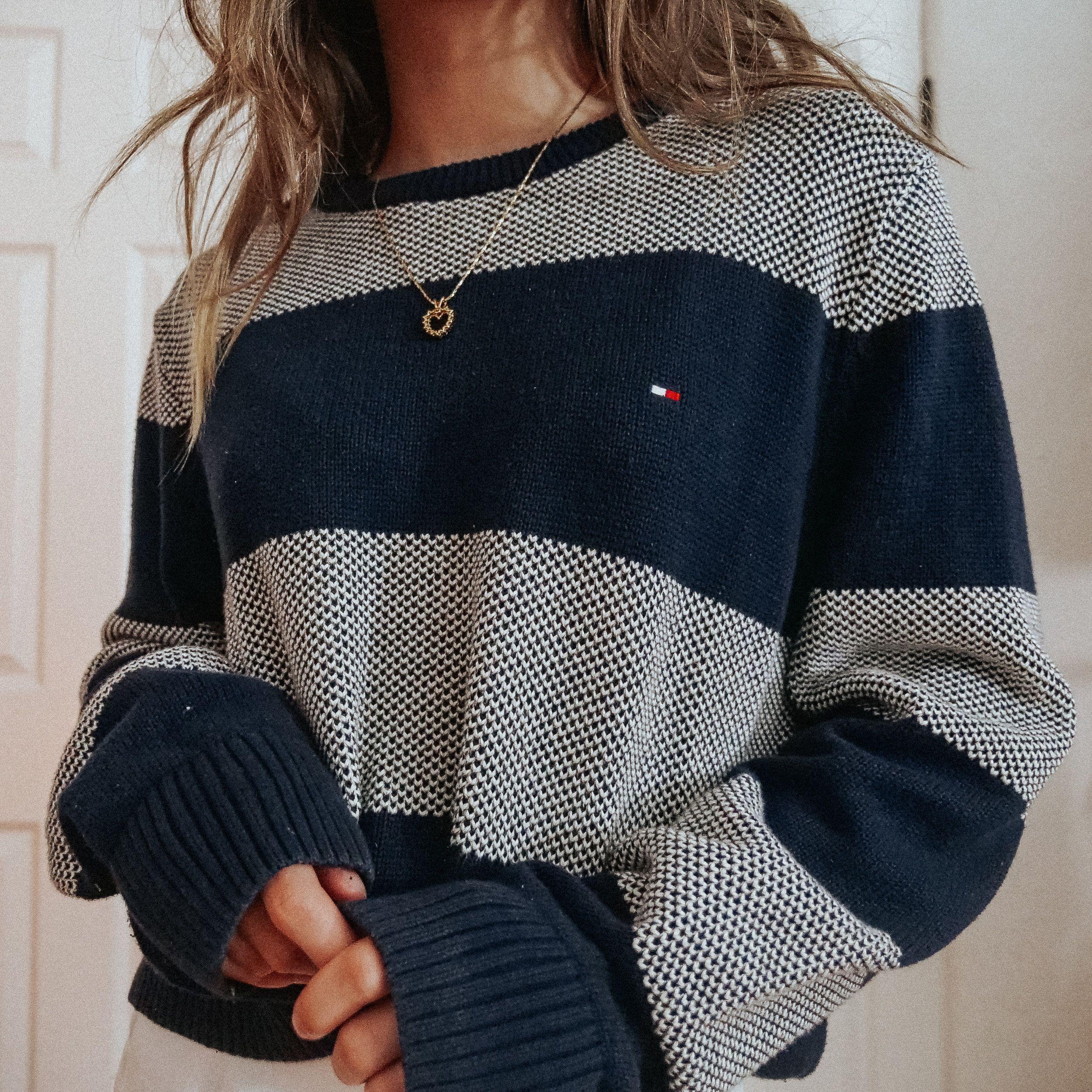 tommy hilfiger striped sweater [M] — bestdressed