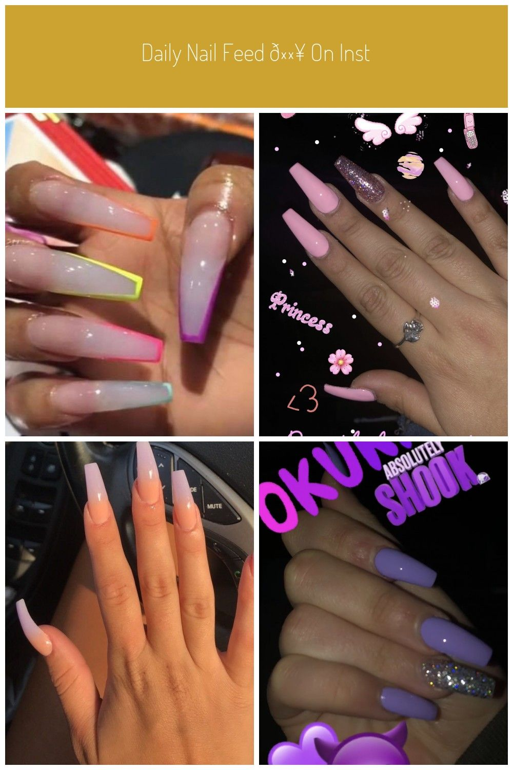 Daily Nail Feed On Instagram Baddie Nails Baddie Nails Pink Acrylic Nails Nails Best Acrylic Nails