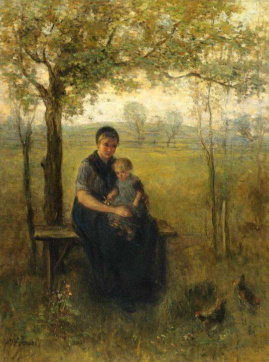 The Madonna of Drenthe - Jozef Israels