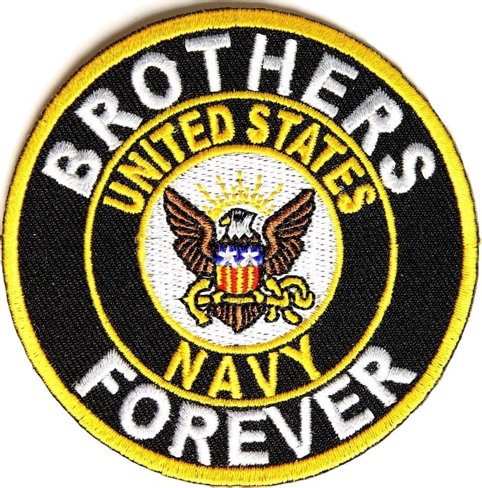 Brothers forever united states navy crest embroidered iron on brothers forever united states navy crest embroidered iron on patch biocorpaavc Gallery